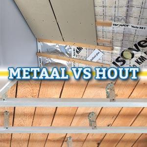Metaal of hout voor wanden en plafonds?