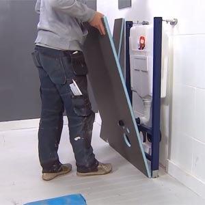 Wedi Toiletombouw met Wedi I-Board Plaatsen