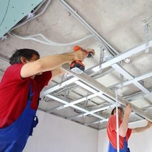 Verlaagd plafond plaatsen met Gyproc