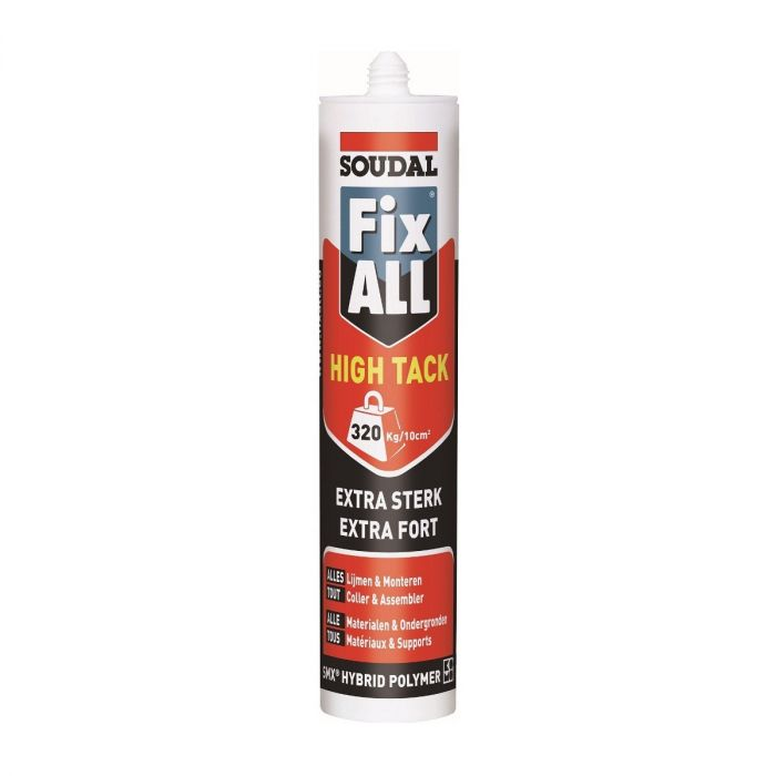 Soudal Fix All High Tack sterke kit grijs 290ml 100270