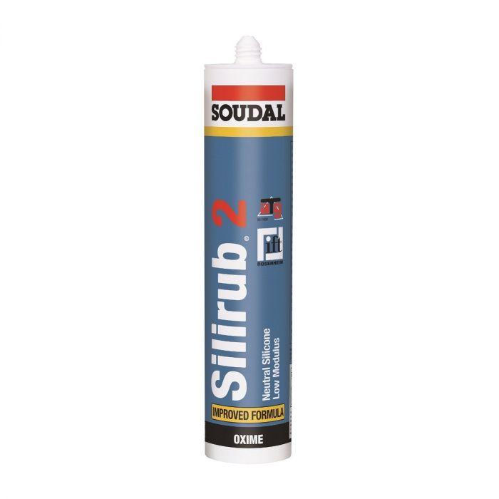 Soudal Silirub 2 siliconenkit wit 310ml 102392