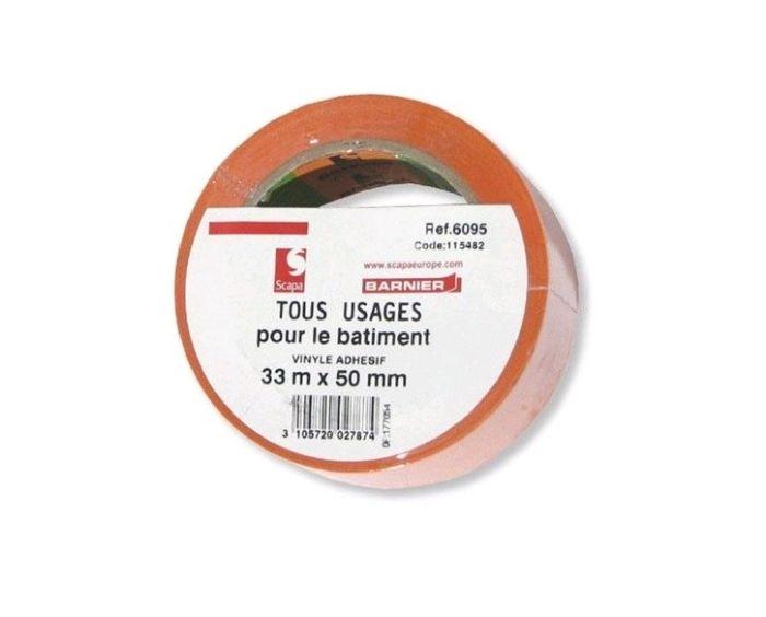 Barnier Kleefband PVC 33mx55mm Oranje