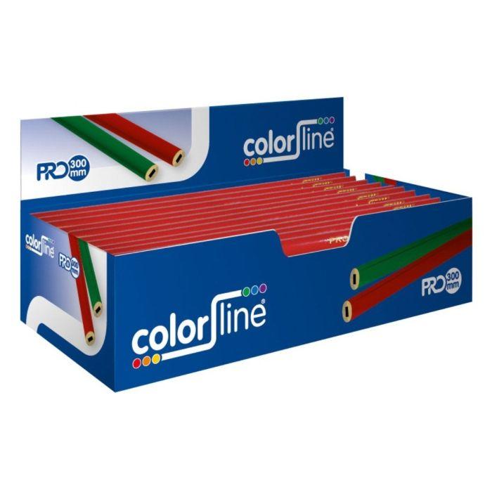 Color Line grijse schrijnwerkerspotlood rood 30cm JD 917030