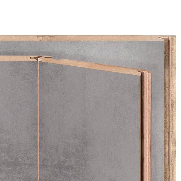 Panidur Plano Wandpanelen Chrome Grey 2800x508x10mm | 2 stuks
