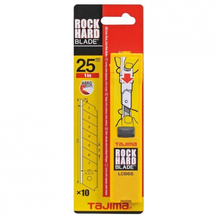 Tajima afbreekmessen 25mm 10stuks TJ LCB65