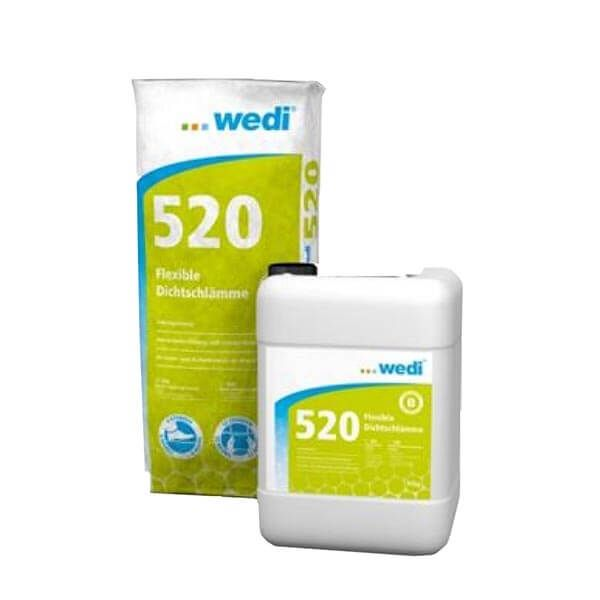 Wedi 520 Flexibel Afdichtmiddel (2 componenten) Waterdicht   20kg + 10L