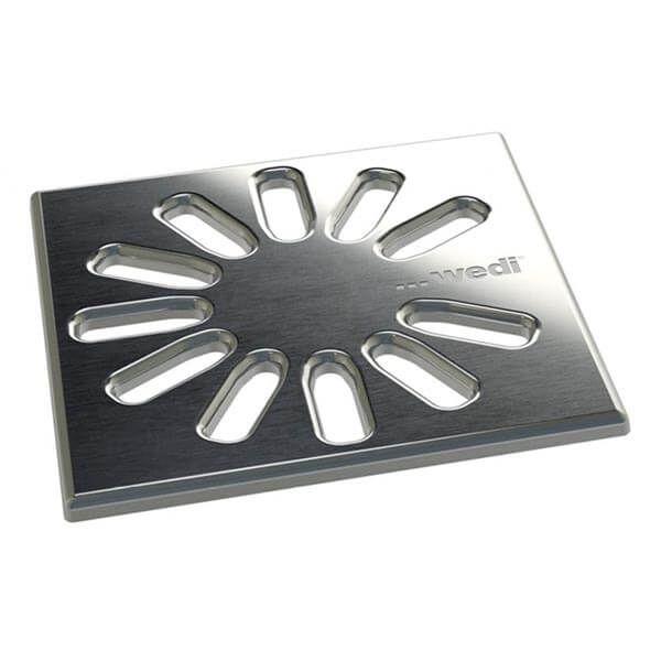 Wedi Fundo Fino 1.1 Afvoerrooster RVS | 115x115mm
