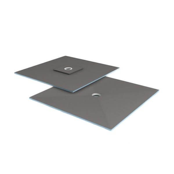 Wedi Fundo Ligno douchevloerelement 1200x1200mm | Afvoer centraal