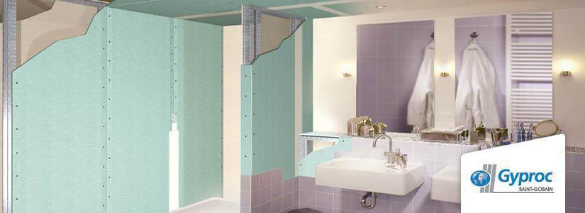 Gyproc badkamer afwerking met gipsplaten