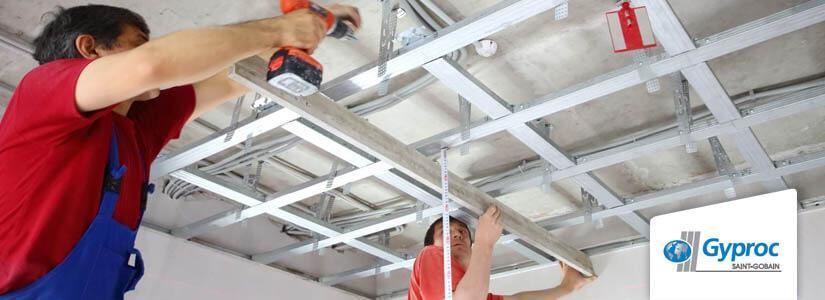 Gyproc PlaGyp D plafond plaatsen