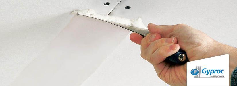 Gyproc plafond: voegen en afwerken