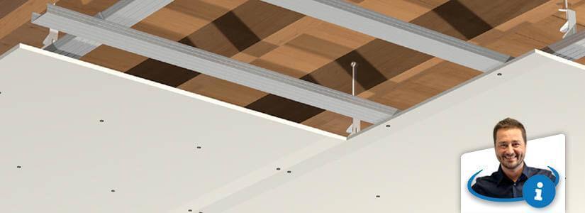 Verlaagd Gyproc plafond plaatsen: 5 systemen