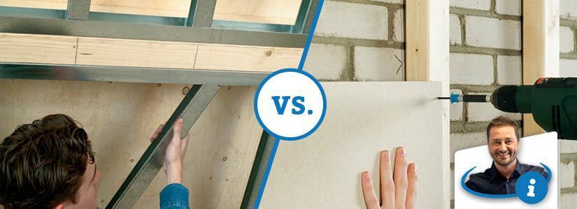Metalen of houten profielen voor wanden en plafonds?