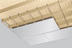 Gyproc plafond op houten regels