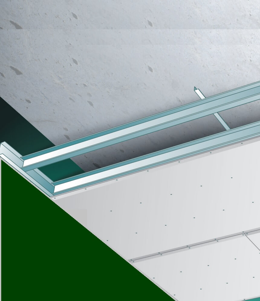 Klusadvies Gyproc Metal Stud plafond