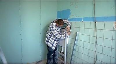 voorzetwand badkamer meten